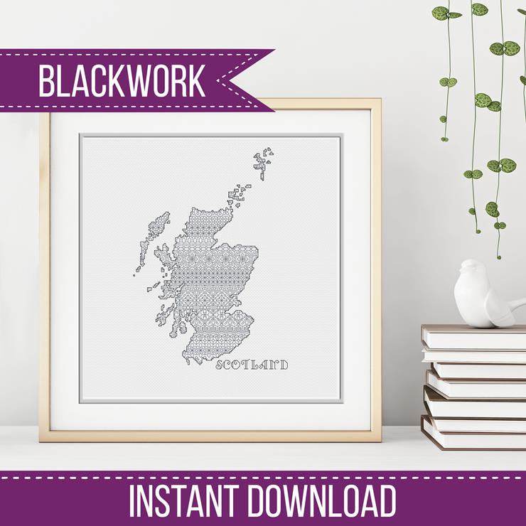 Blackwork Pattern - Scotland Blackwork