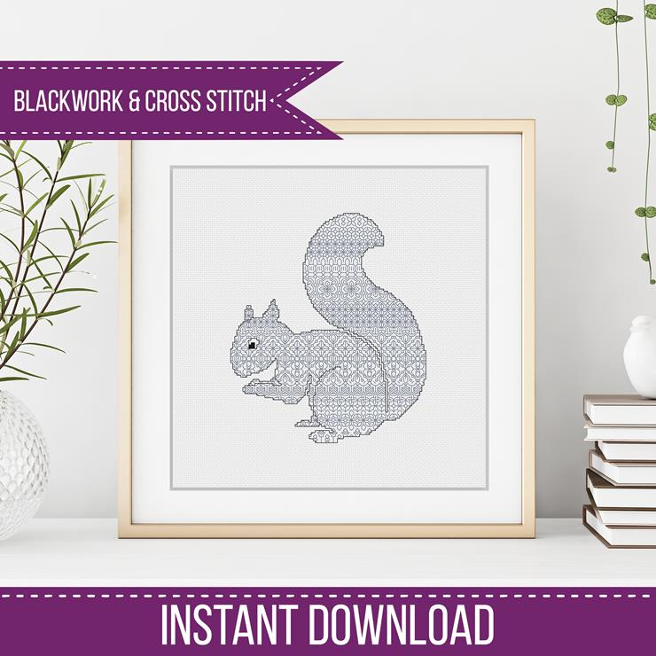 Squirrel Blackwork