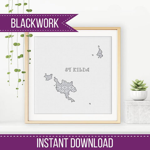 Blackwork Pattern - St Kilda Blackwork