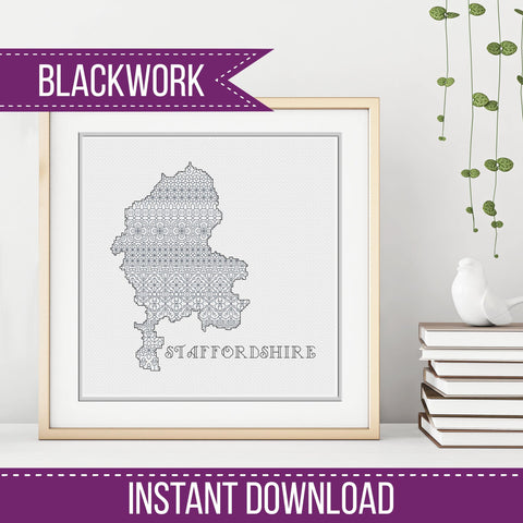 Blackwork Pattern - Staffordshire