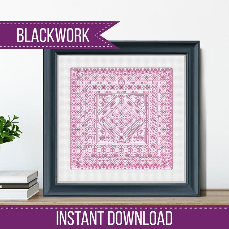 Blackwork Pattern -Study In Cyclamen