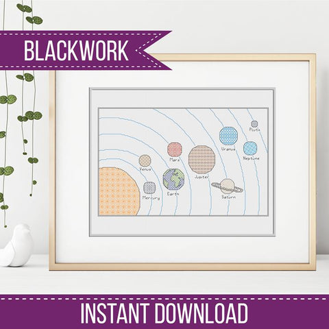 The Planets Blackwork