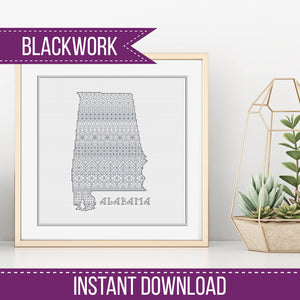 US States Blackwork Kits