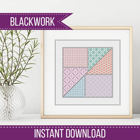 FREE BLACKWORK PATTERN - Tangram