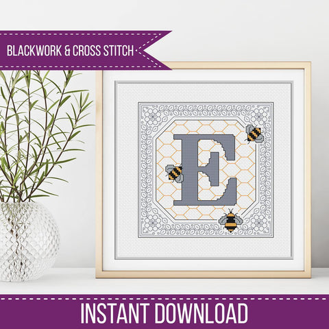 Blackwork Pattern - E - Bumble Bee
