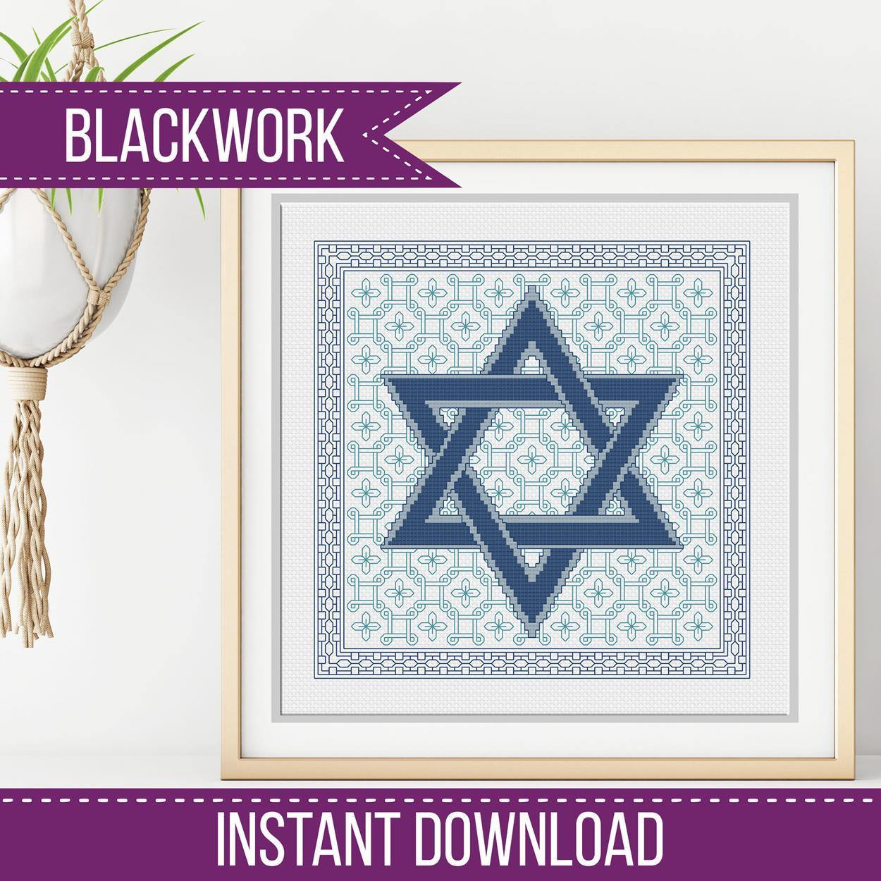 Blackwork Pattern - Star of David