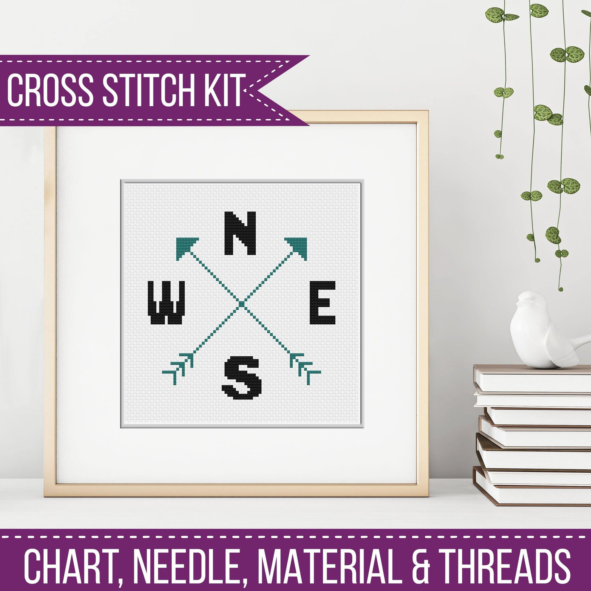 Compass Cross Stitch Kit