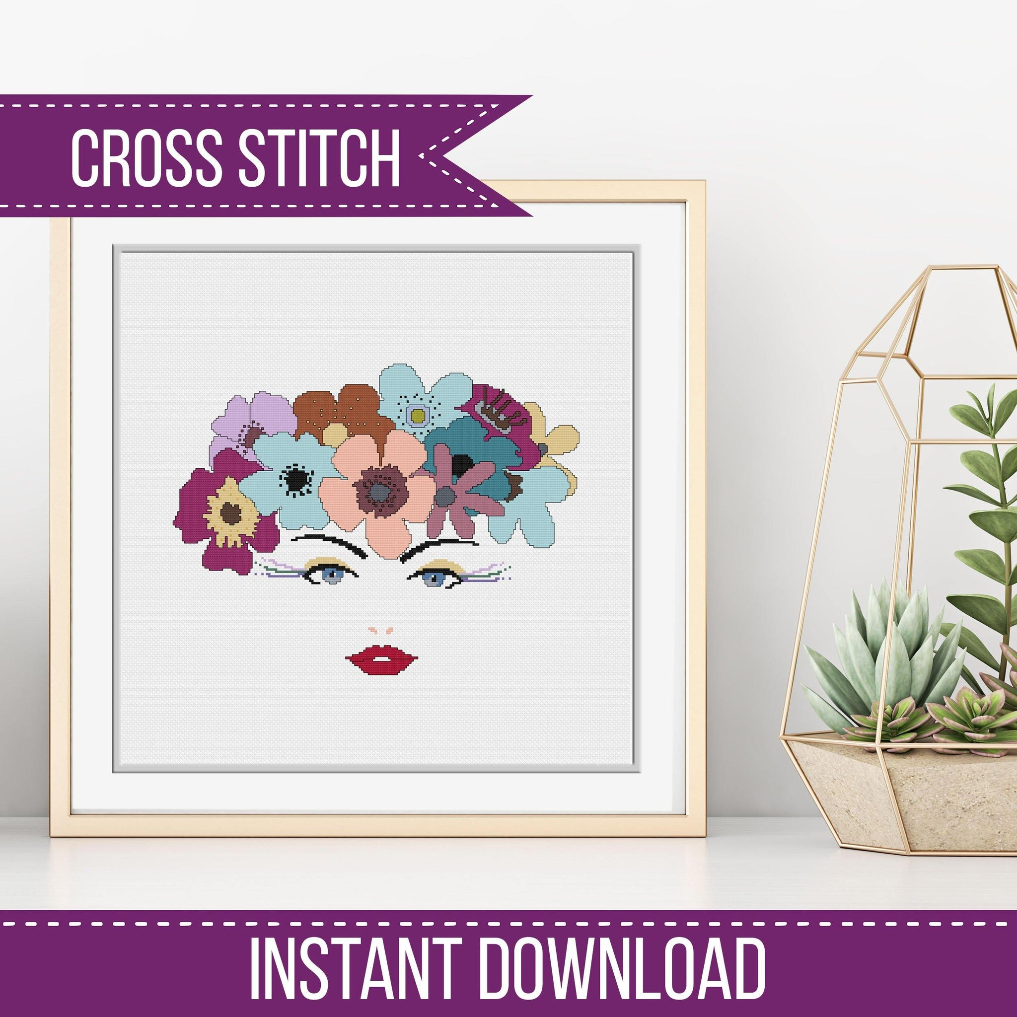 Flower Girl Cross-Stitch Chart