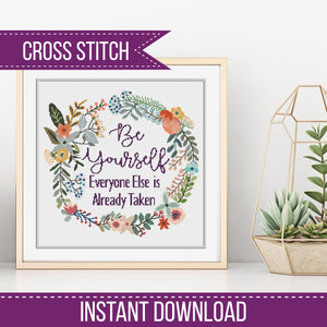 Be Yourself counted Cross-Stitch Chart