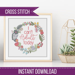I can't Adult Today Cross Stitch PDF