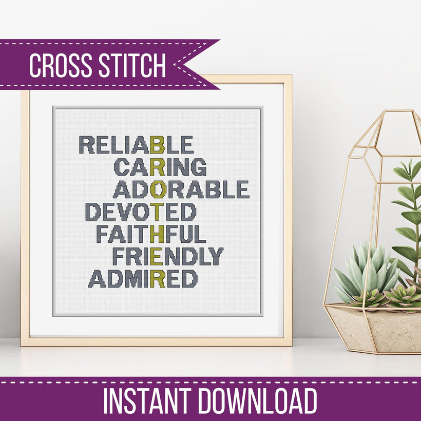 ACROSTIC CROSS STITCH