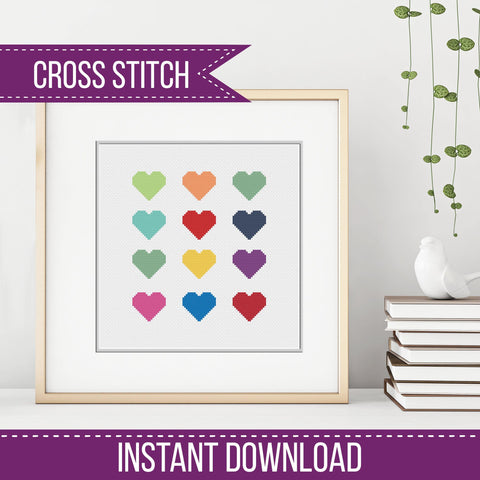 Heart Modern Cross Stitch