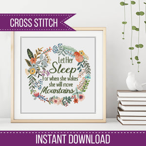 Let Her Sleep counted Cross-Stitch Chart