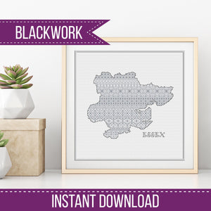 Blackwork Pattern - Essex Blackwork