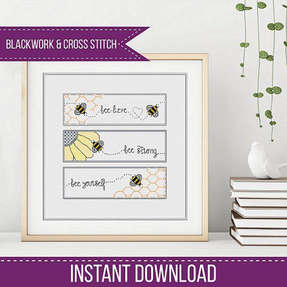 Bee Bookmarks Triptique