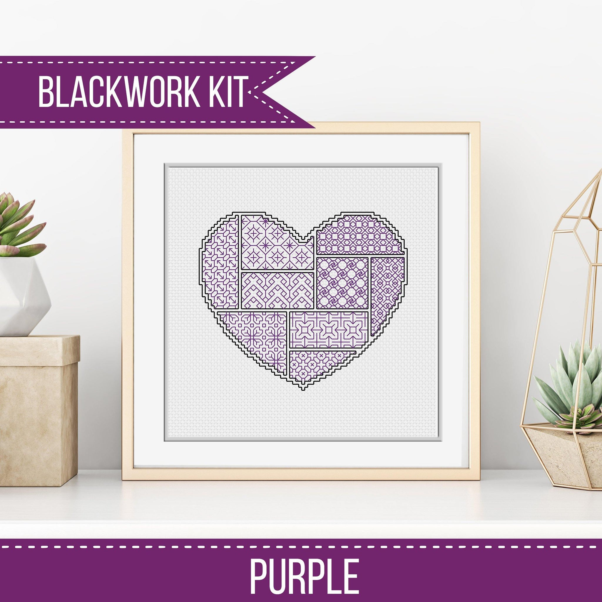 Blackwork Starter Kit - Heart