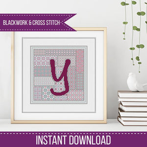 Blackwork Pattern - Y - Blackwork Letter