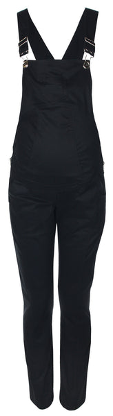 Black Flay Maternity Dungarees