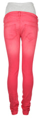 Skinny Over Bump Red Maternity Jeans