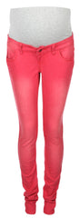 Skinny Over Bump Red Maternity Jeans from mama.licious