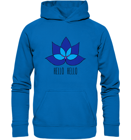 Hello Hello - Basic Unisex Hoodie (Blue Lotus) - 2 Colors Available