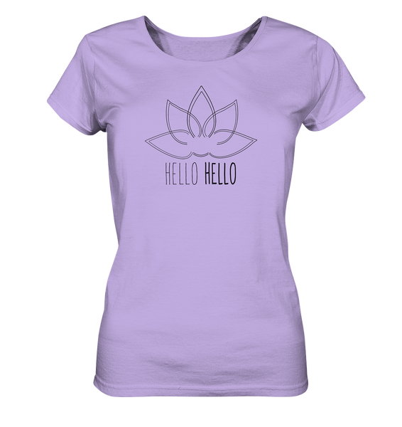 Hello Hello - Ladies Organic Shirt (Black Lotus) - 5 Colors Available