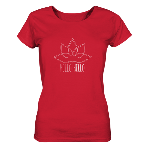 Hello Hello - Organic Ladies Shirt (White Lotus) - 11 Colors Available