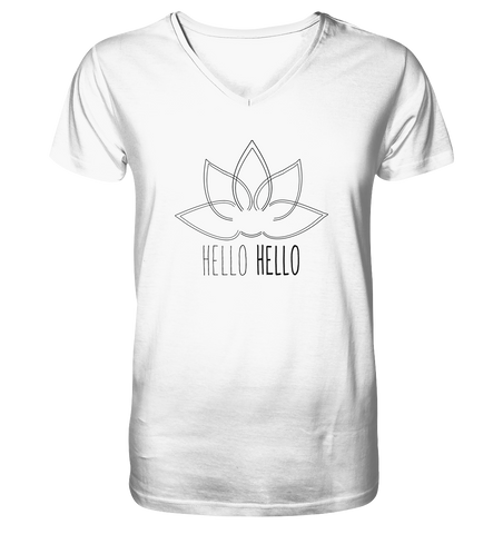 Hello Hello - Mens V-Neck Organic (Black Lotus) - 2 Colors Available