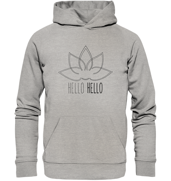 Hello Hello  - Organic Hoodie (Black Lotus) - 2 Colors Available