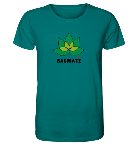 Basmati (Green Lotus) - Organic T-Shirt / 4 Colors Available - Organic Shirt