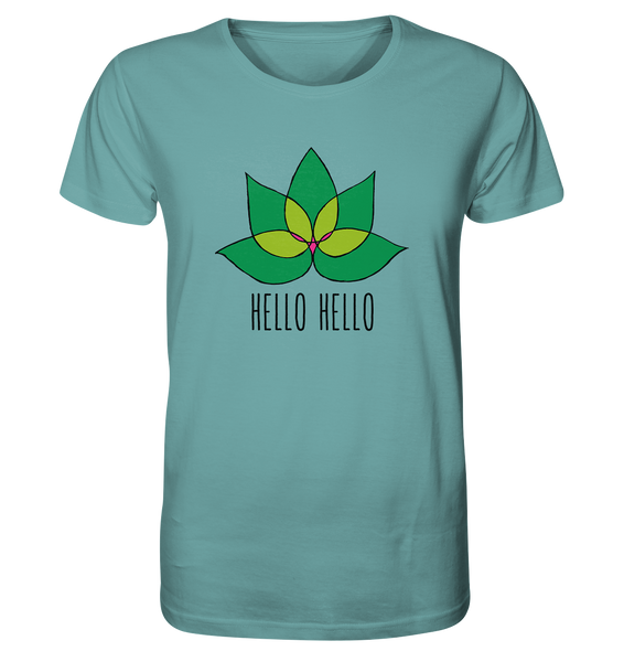 Hello Hello - Organic Shirt (Green Lotus) - in 5 Colors!