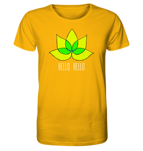 Hello Hello - Organic Shirt (Yellow Lotus) - 6 Colors Available