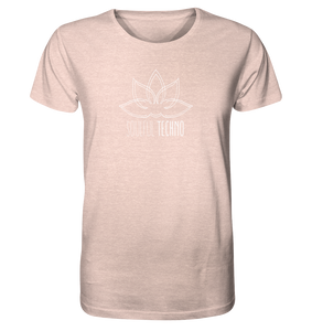 Soulful Techno (White) - T-Shirt / 3 Colors - Organic Shirt (meliert)
