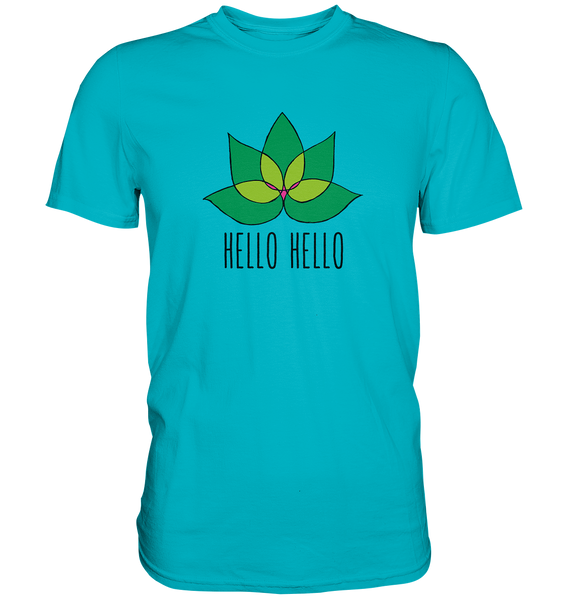 Hello Hello (3xl + 4xl) - Shirt (Green Lotus) - 7 Colors Available
