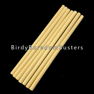 "Hardwood dowels measuring 1/4"" in diameter and 6"" long.  Package contains 10 pieces."