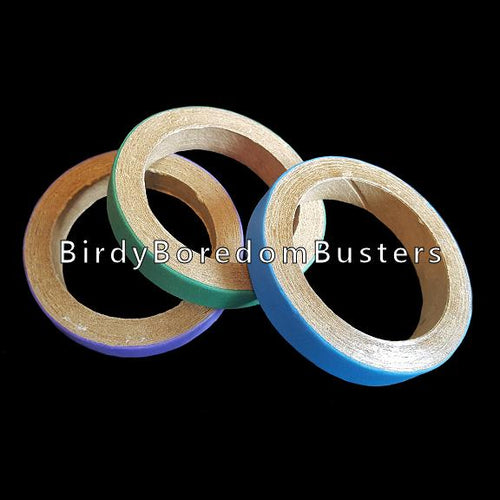 Non-toxic, bird safe paper rings can be used as foot toys, slipped over perches or used as a toy base. Approx size 2-3/4