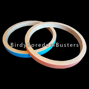 "Non-toxic, bird safe paper ring that can be used as a toy base for medium or large toys or as a swing for small and intermediate sized birds. Approx size 8"" by 3/4"".  Price is per bagel."