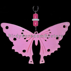 "An acrylic butterfly with six 1/4"" holes & two smaller holes measuring 5-3/4"" by 6"" including pear link. An excellent start for medium toys.  Available in assorted colors."