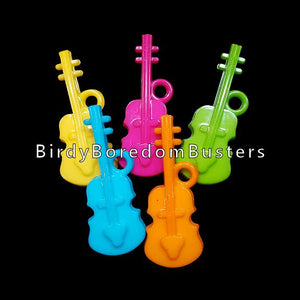 "Large acrylic fiddle charms approx 2"" by 3/4"" with a 4mm (approx 5/32"")  hole. Use for small and medium toys.  Package contains 10 charms."