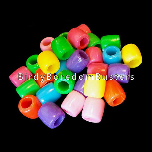 Big barrel pony beads approx 3/8