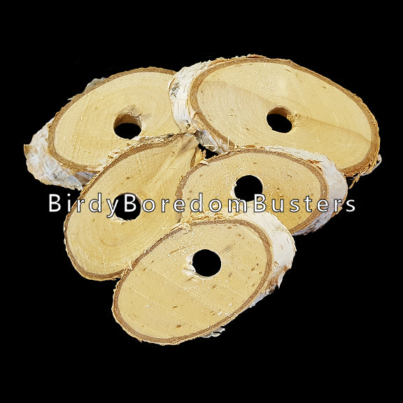 Natural birch slices measuring 1/4