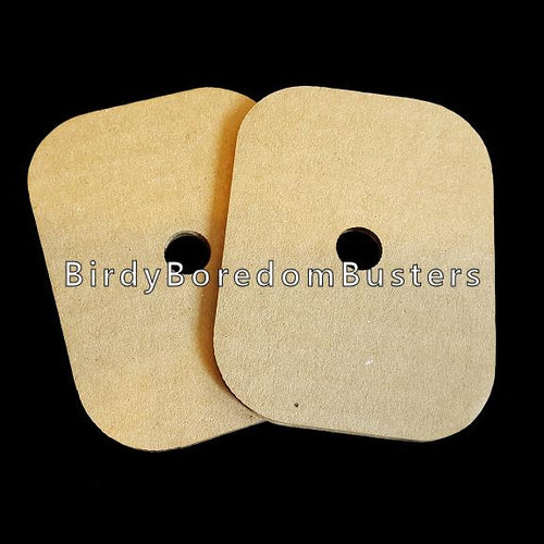 Use these corrugated cardboard pieces to make great shreddable toys! Measuring 3
