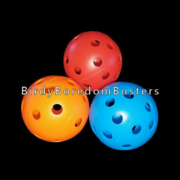 Colored plastic perforated wiffle golf balls with holes approx 1/4