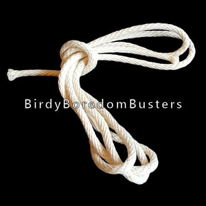 "100% cotton cord measuring 5/32"" in diameter. This cord is quite strong & holds a tight knot. It works well with 1/4"" or larger holes.   Sold in 10 foot increments."
