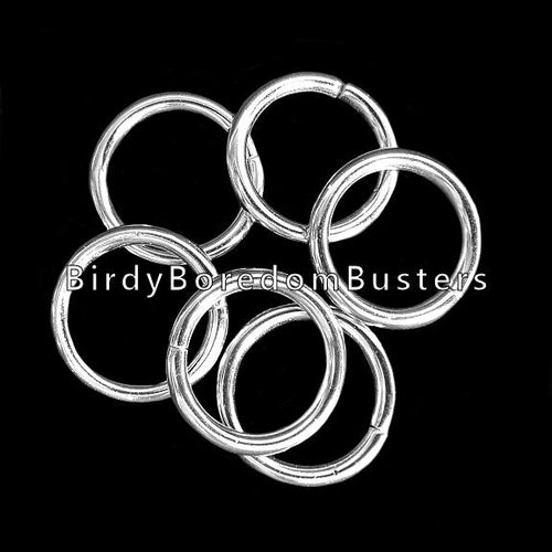 Unwelded nickel plated o-rings (aka jump rings) approx 1-1/8