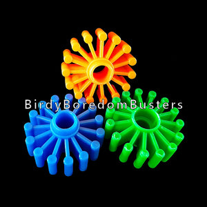 "Brightly colored tough plastic gears approx 1-1/2"" in diameter by approx 1/2"" thick with a 3/8"" center hole.  Package contains 6 pieces."