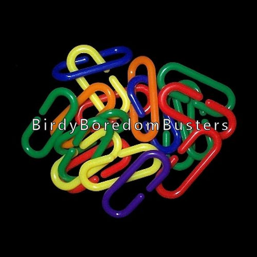 Brightly colored plastic links approx 1-3/4
