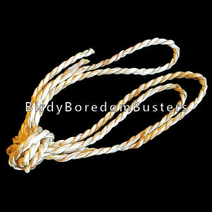 "Natural seagrass hand twisted to form a twine-like cord approx 1/8"" in diameter. Great for making small bird toys as well as rabbit toys.  Package contains 50 feet."