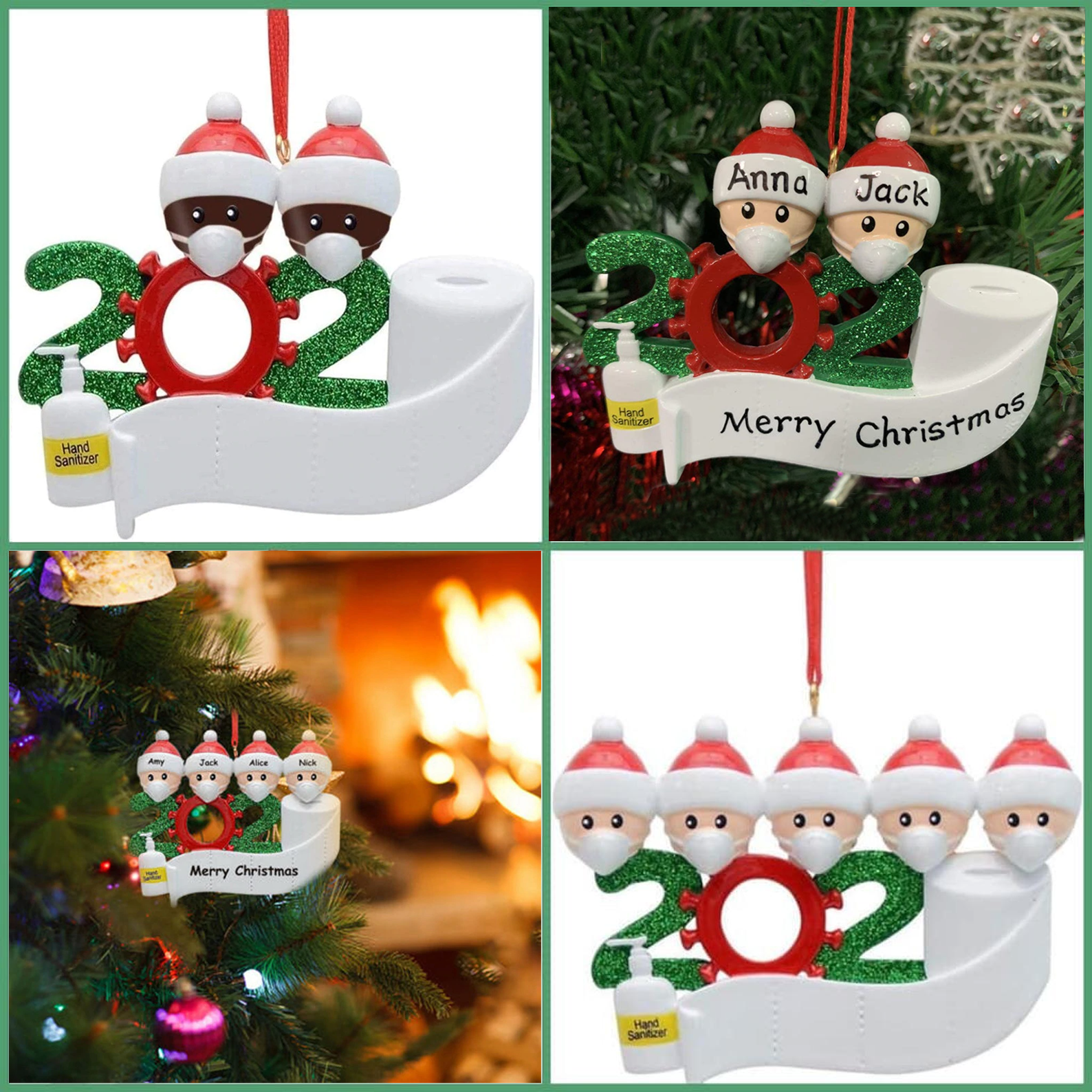 Christmas Ornament 2020 With Mask, Sanitizer & Toilet Paper - [PERSONALIZABLE]