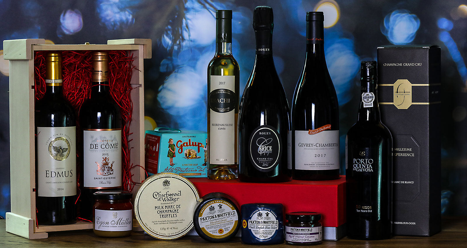 Chirstmas wine gifts and hampers from 9 Elms Wines